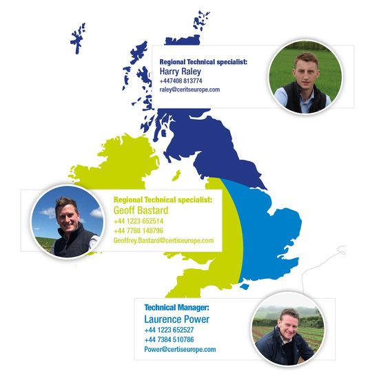 UK map featuring area specialists and contact details