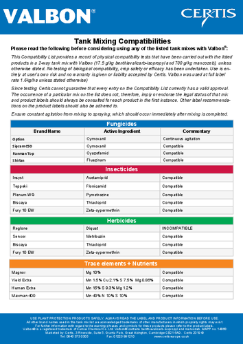 Valbon   Certis Europe United Kingdom